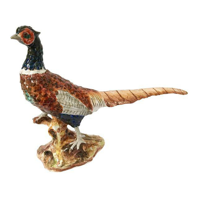 Large Sculptural Ceramic Pheasant Figurine