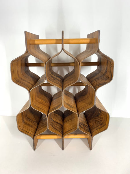 Rosewood Wine Rack by Torsten Johansson for Ab Formträ full view