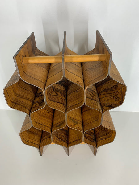 Rosewood Wine Rack by Torsten Johansson for Ab Formträ front view