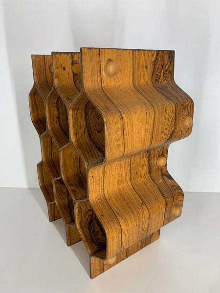 Rosewood Wine Rack by Torsten Johansson for Ab Formträ side view