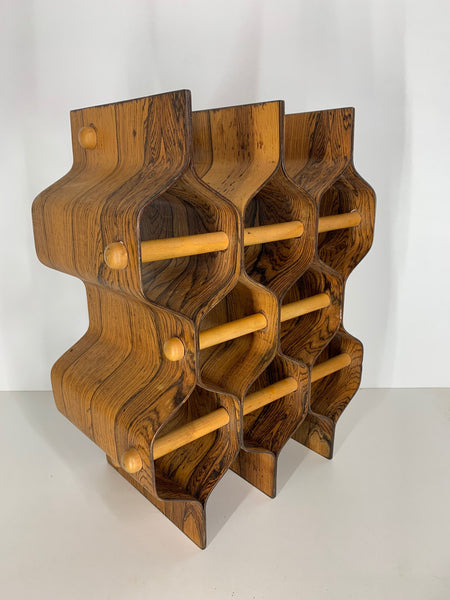 Rosewood Wine Rack by Torsten Johansson for Ab Formträ rear view