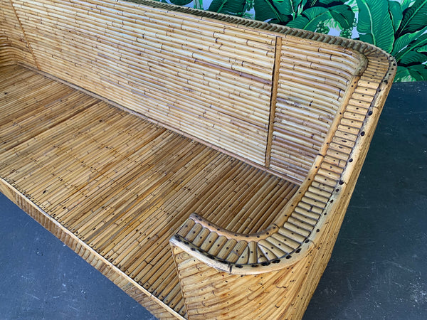 Stacked Bamboo Sofa in the Manner of Gabriella Crespi top view