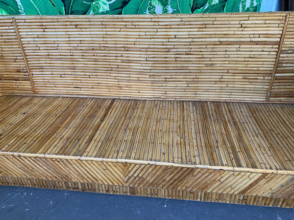 Stacked Bamboo Sofa in the Manner of Gabriella Crespi