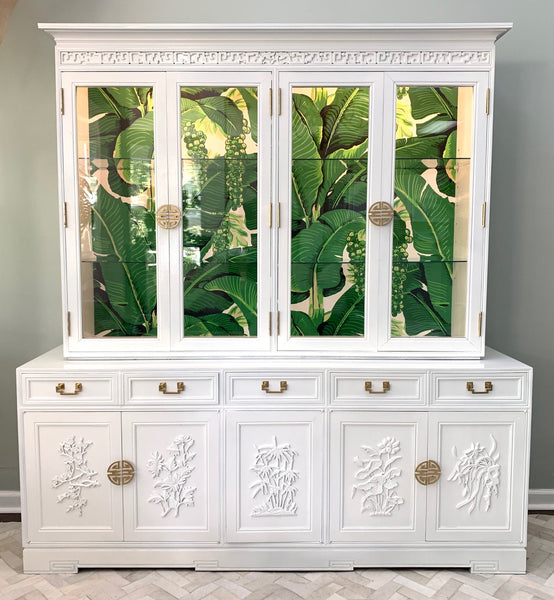 Asian Chinoiserie China Cabinet by Ricardo Lynn front view
