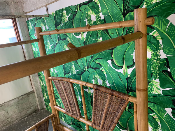 Queen Size Bamboo Canopy Bed close up