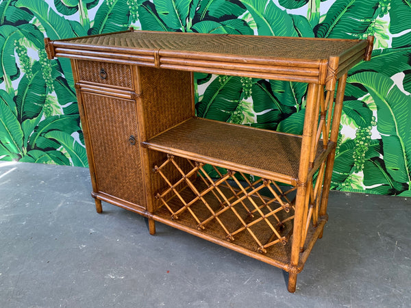 Bamboo and Rattan Dry Bar front view