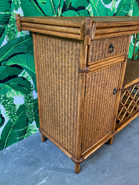 Bamboo and Rattan Dry Bar side view