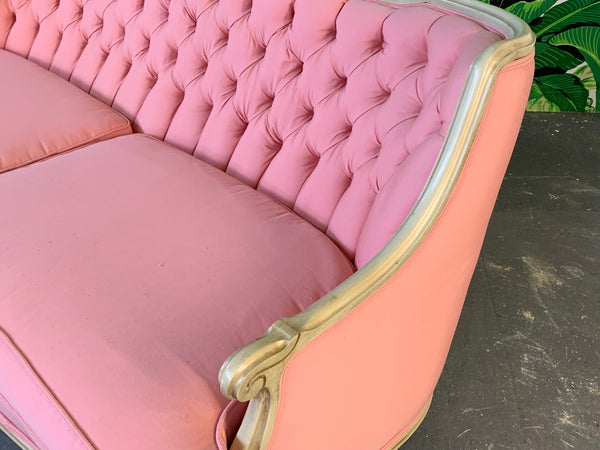 Pair of Pink French Provincial Sofas