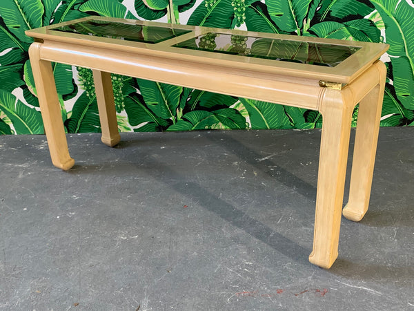 Ming Asian Console Table by Bernhardt front view