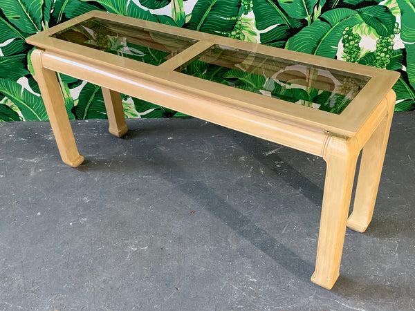 Ming Asian Console Table by Bernhardt top view