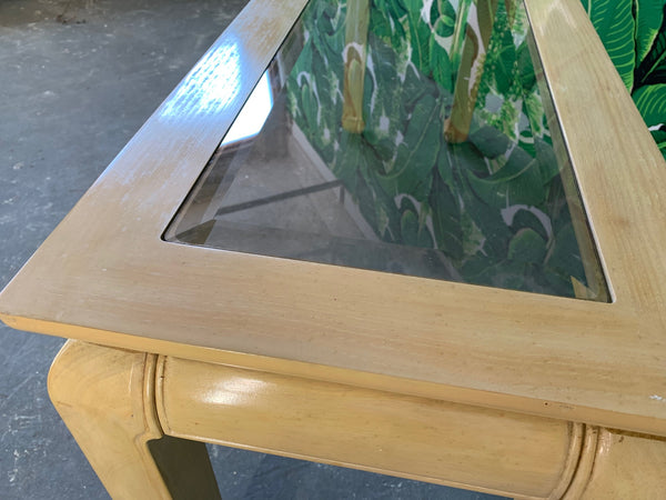 Ming Asian Console Table by Bernhardt close up