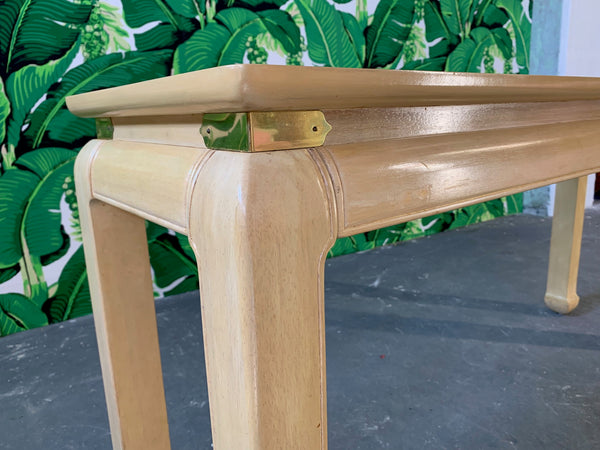 Ming Asian Console Table by Bernhardt side view