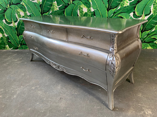 Silver Leaf French Rococo Dresser side view