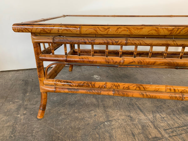 Chinoiserie Tiger Bamboo Coffee Table side view