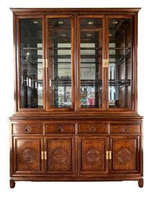 Japanese Redwood Chinoiserie China Cabinet