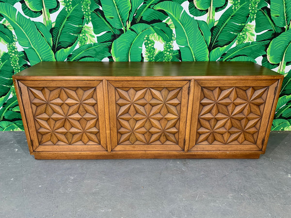 Henredon Folio Three Carved Front Credenza front view