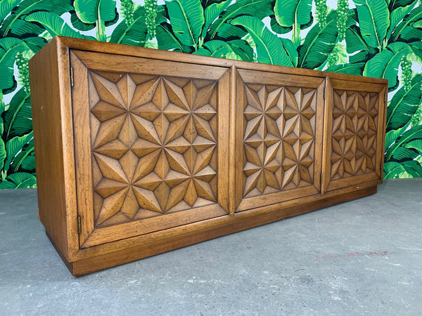 Henredon Folio Three Carved Front Credenza side view