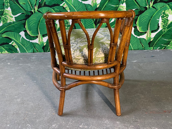 Pair of Bamboo Club Chairs in the Style of McGuire rear view