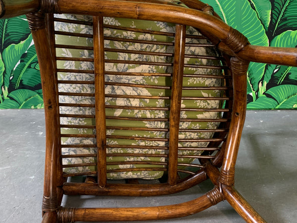 Pair of Bamboo Club Chairs in the Style of McGuire