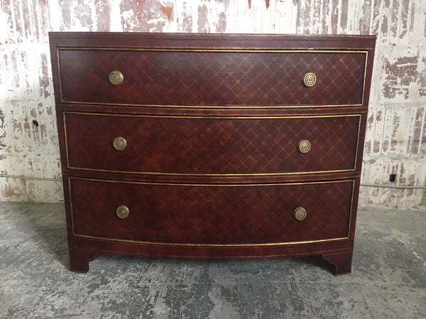 Leather Wrapped 3-Drawer Dresser by Ferguson Copeland