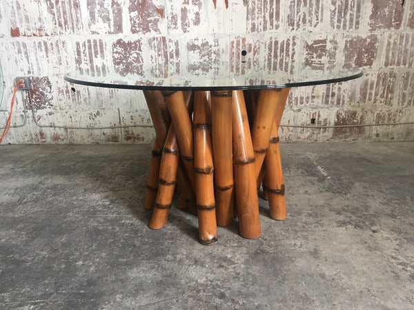 "Sculptural Bamboo Dining Table by Antonio ""Budji"" Layug"