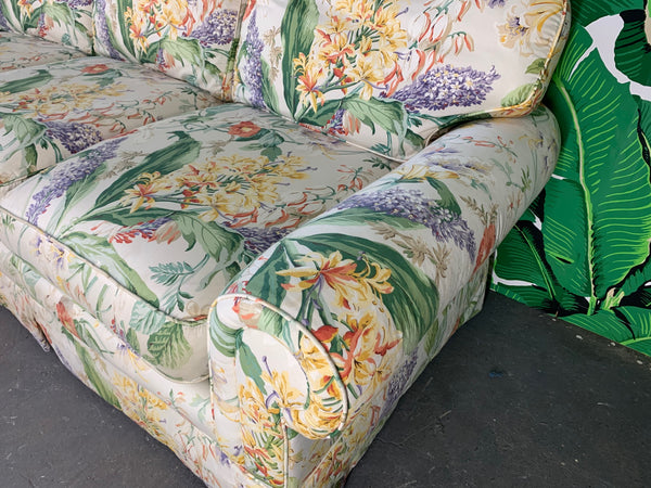 Pair of Floral Upholstered Sofas by Robb and Stucky