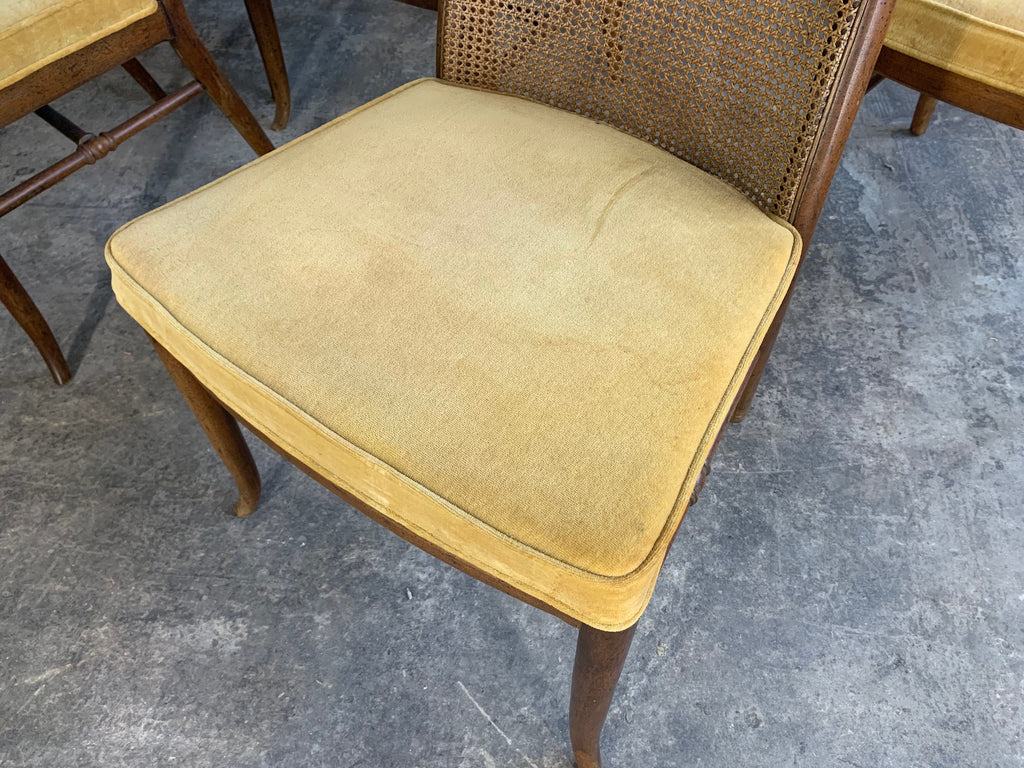 Mid Century High Back Cane Dining Chairs By Drexel Marjorie And Marjorie