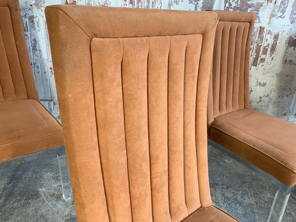 Set of 4 Upholstered Dining Chairs by Charles Hollis Jones close up