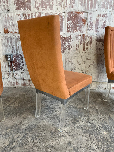 Set of 4 Upholstered Dining Chairs by Charles Hollis Jones rear view