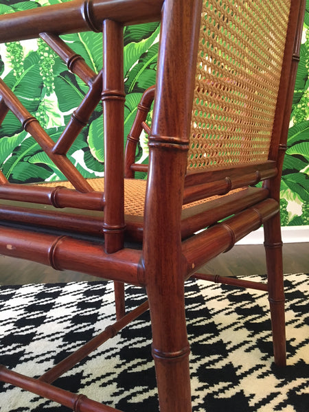 Designs Ligna Faux Bamboo and Cane Dining Chairs