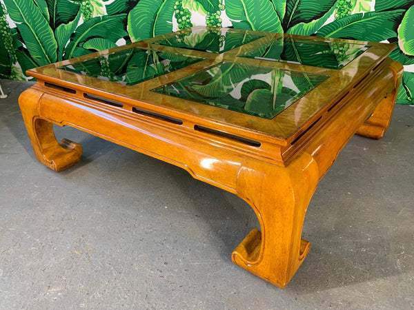Ming Asian Chinoiserie Coffee Table front view