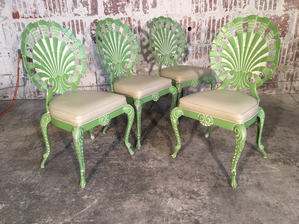 Shell Back Grotto Chairs in Cast Aluminium by Brown Jordan