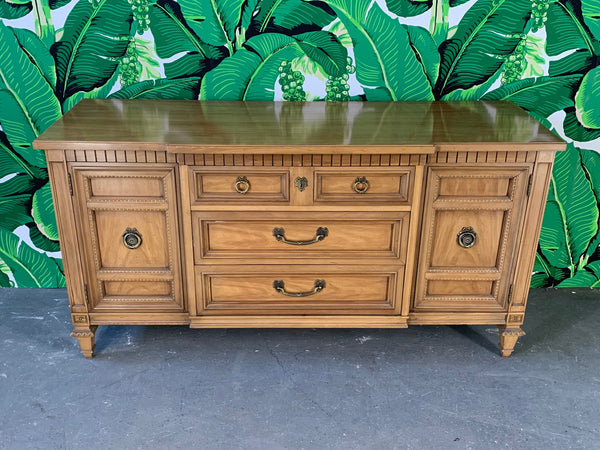 Mid Century Breakfront Buffet by Thomasville front view