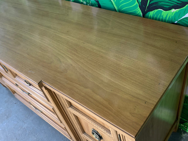 Mid Century Breakfront Buffet by Thomasville top view