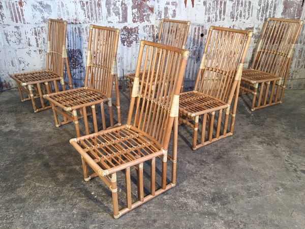 Bamboo Dining Chairs by Kipp Stewart