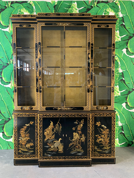 Asian Chinoiserie China Cabinet by Drexel front view