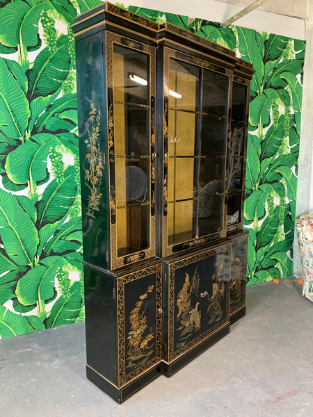 Asian Chinoiserie China Cabinet by Drexel side view