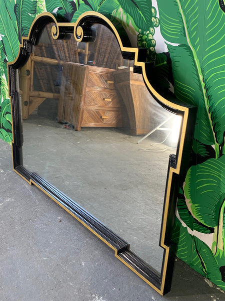 Scroll Wall Mirror After Dorothy Draper front view