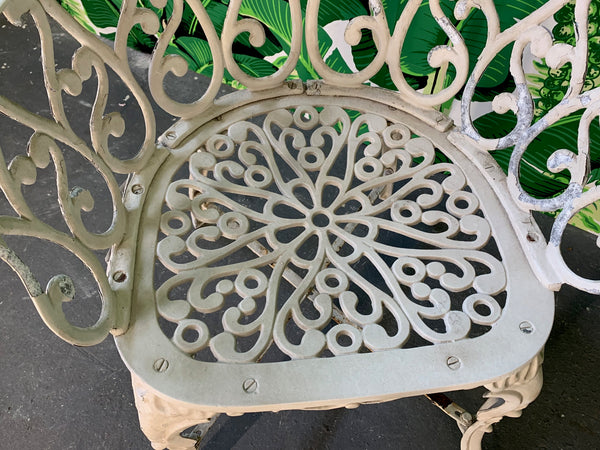 Ornate Wrought Iron Bistro Patio Set
