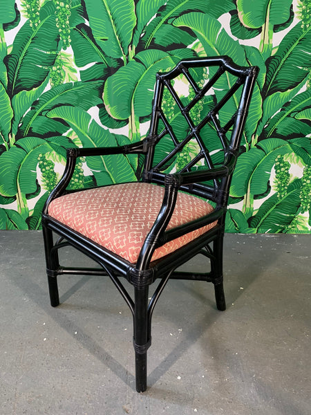 Bamboo Chinoiserie Style Dining Chairs by Palecek, Set of 6