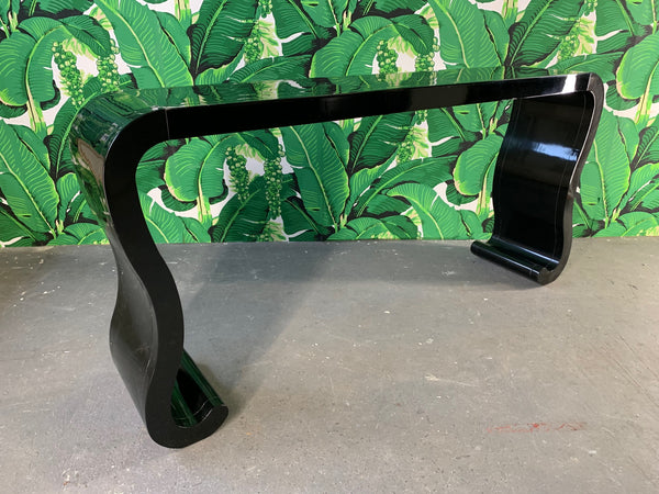 Waterfall Console Table in the Manner of Karl Springer side view