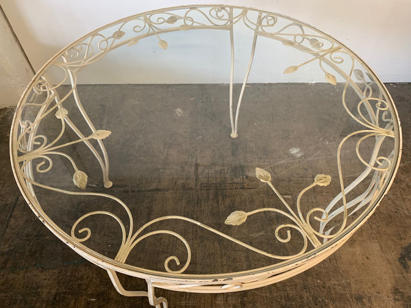 Vintage Wrought Iron Patio Table