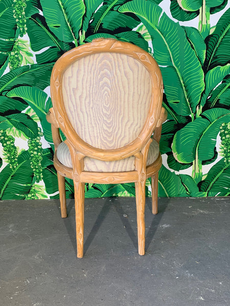 Vintage Faux Bois Dining Chairs, Set of 6