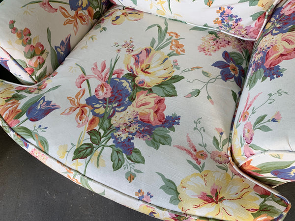 Floral Upholstered Club Chairs by Henredon for Ralph Lauren, Set of 2