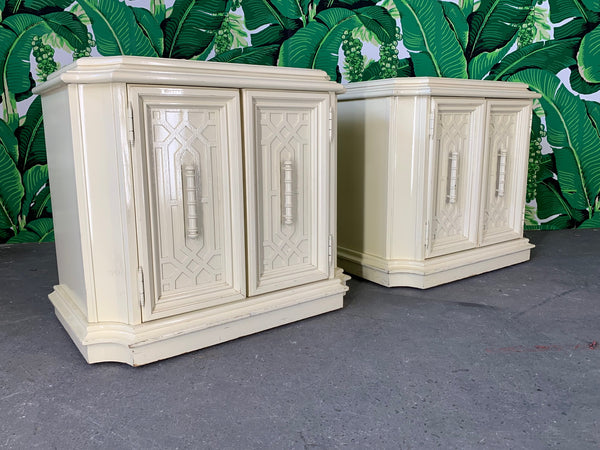 Pair of Nightstands in Chinoiserie Style