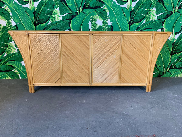 Split Pencil Reed Sculptural Credenza front view