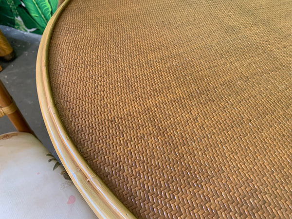 Vintage Rattan Dining Bistro Table