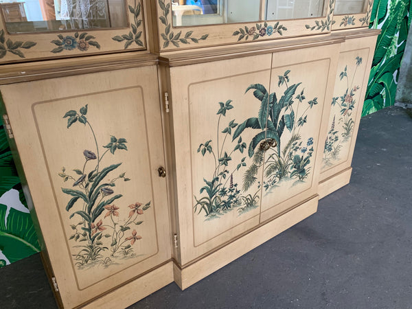 Hand Painted China Cabinet by Drexel lower view