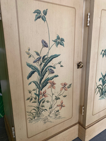 Hand Painted China Cabinet by Drexel close up