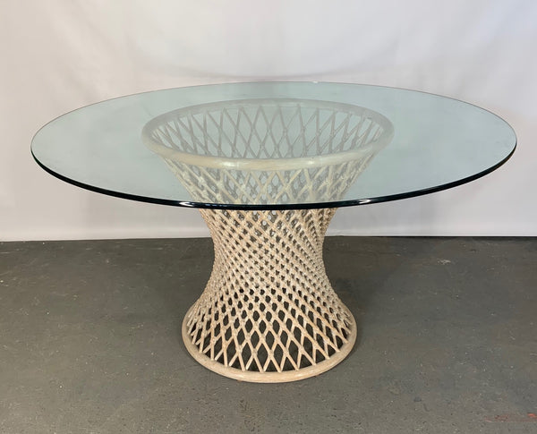 Woven Rattan Sculptural Dining Table